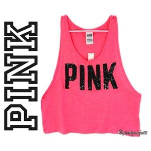 PINK VS Crop Top Tank Nwt Size SP